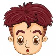 A head of a teenager — Stock Vector