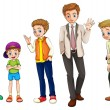 A man from childhood to adulthood — Imagen vectorial
