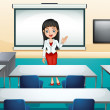 A girl in a conference room — Stock Vector