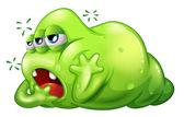 A greenslime monster in boredom — Stock Vector