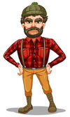 A scary lumberjack standing — Stock Vector
