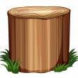 Stock Vector: Stump with weeds