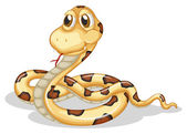 A scary snake — Stock Vector