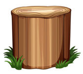 A stump with weeds — Stock Vector