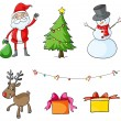 Different christmas symbols — Stock Vector