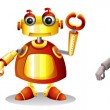 Different robot designs — Stock Vector