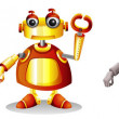 Stock Vector: Different robot designs