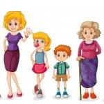 una gran familia feliz — Vector de stock  #33635481