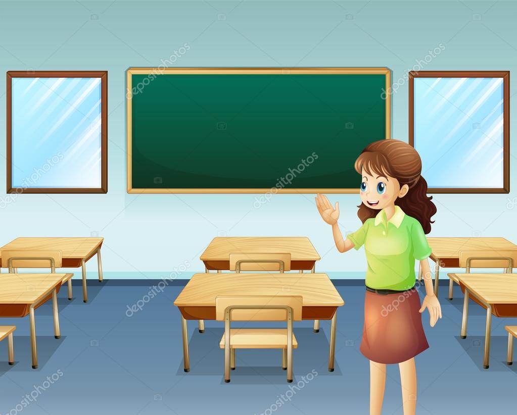 empty classroom with teacher - photo #20