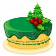 A cake for christmas — Stock Vector