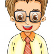 A handsome young man with an eyeglass — Stock Vector