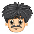 A head of a man with a mustache — Stock Vector