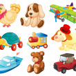 Stock Vector: Different toys