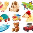diversi giocattoli — Vettoriale Stock