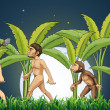 Stock Vector: Evolution of man