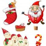 クリスマスのシンボル — ストックベクタ