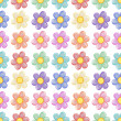 A seamless template with a floral design — Imagen vectorial