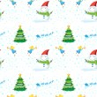Seamless christmas design — Vettoriali Stock