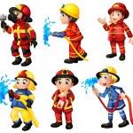 Firemen — Stock Vector #35714427