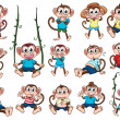 A group of monkeys — Stock Vector