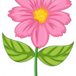 A pink flower — Stock Vector