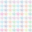 Vector de stock : Seamless flowery design