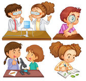 Pequenos cientistas — Vetor de Stock