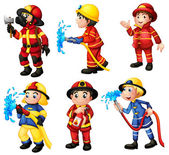 Firemen — Stock Vector