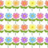 A floral seamless design — Stock Vector