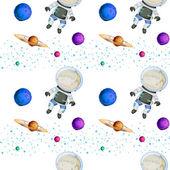 Nahtloses Design mit Astronauten — Stockvektor