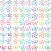 Naadloze bloemrijke ontwerp — Stockvector