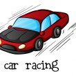 Stock Vector: Car racing