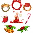 Stock Vector: Christmas decors
