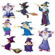 Stock Vector: Group of wizards