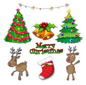 Set of christmas decors — Stock Vector