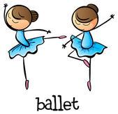 артисты балета — Cтоковый вектор