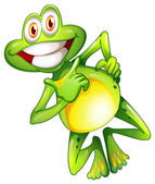 A very smiling frog — Stock Vector