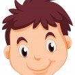 A head of a young man — Stock Vector