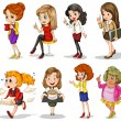 Stock Vector: Working ladies