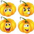 Four pumpkins — Stock Vector #38191075