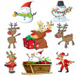 A set of christmas designs — Stock Vector