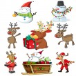 Stock Vector: A set of christmas designs