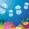Stock Vector: Underwater creatures