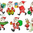 Busy Santa — Stock Vector