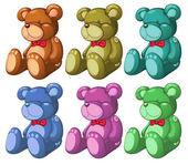 Six bears — Stock Vector