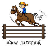 A show jumping — Vecteur