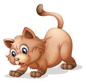 一只棕色的猫 — 图库矢量图片