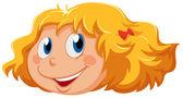 A head of a cute little girl — Stock Vector