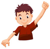 A kid wearing a red shirt — Stock Vector