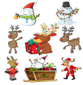 A set of christmas designs — Stock Vector